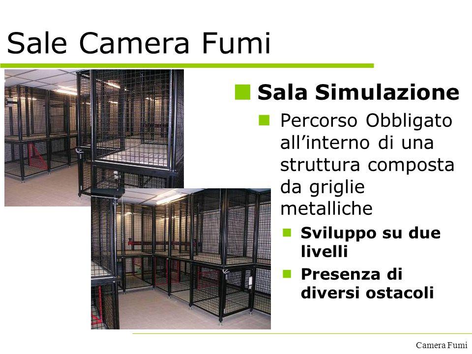 Camera Fumi Sala Simulazione Percorso Obbligato all'interno di una struttura composta da griglie metalliche  Sviluppo su due livelli  Presenza di di