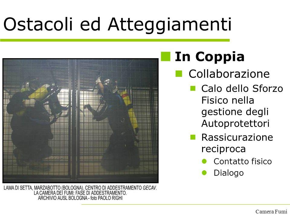 Camera Fumi Ostacoli ed Atteggiamenti In Coppia Collaborazione  Calo dello Sforzo Fisico nella gestione degli Autoprotettori  Rassicurazione recipro