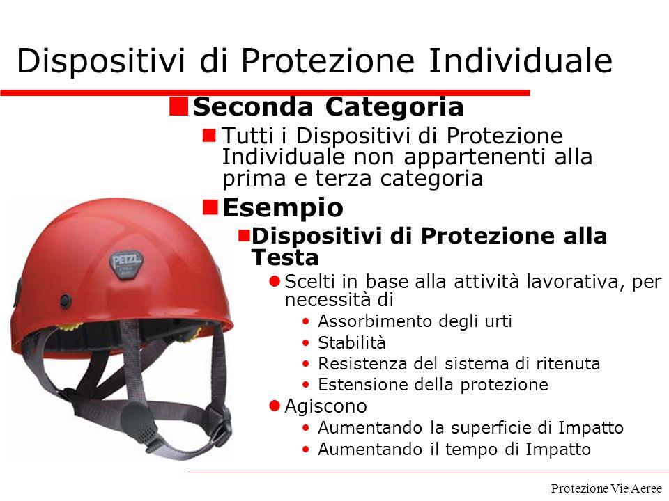 Protezione Vie Aeree Dispositivi di Protezione Individuale Seconda Categoria Tutti i Dispositivi di Protezione Individuale non appartenenti alla prima