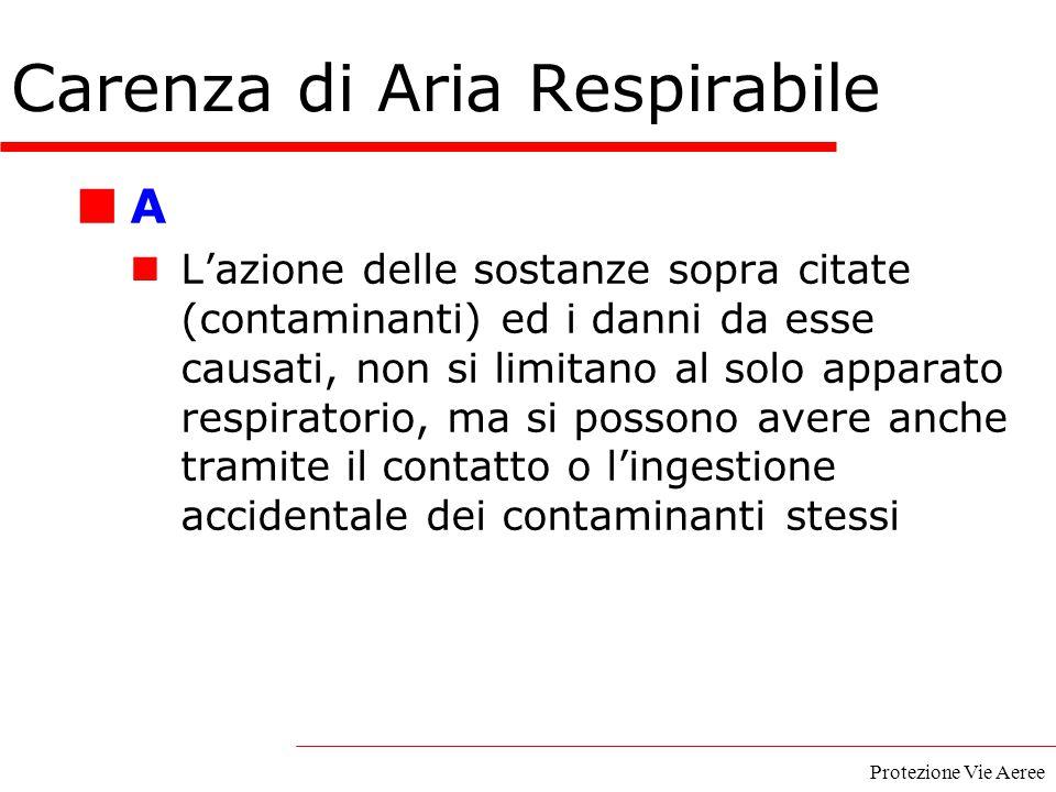 Protezione Vie Aeree A L'azione delle sostanze sopra citate (contaminanti) ed i danni da esse causati, non si limitano al solo apparato respiratorio,
