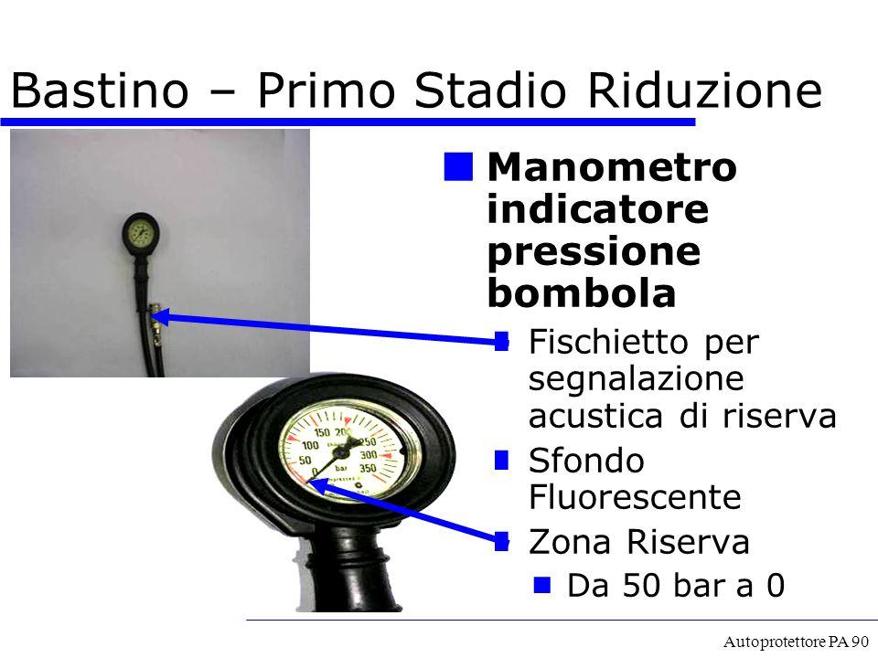 Autoprotettore PA 90 Manometro indicatore pressione bombola Fischietto per segnalazione acustica di riserva Sfondo Fluorescente Zona Riserva  Da 50 b