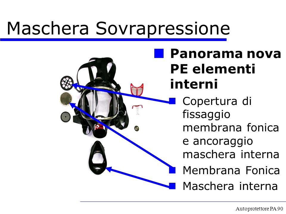 Autoprotettore PA 90 Panorama nova PE elementi interni Copertura di fissaggio membrana fonica e ancoraggio maschera interna Membrana Fonica Maschera i