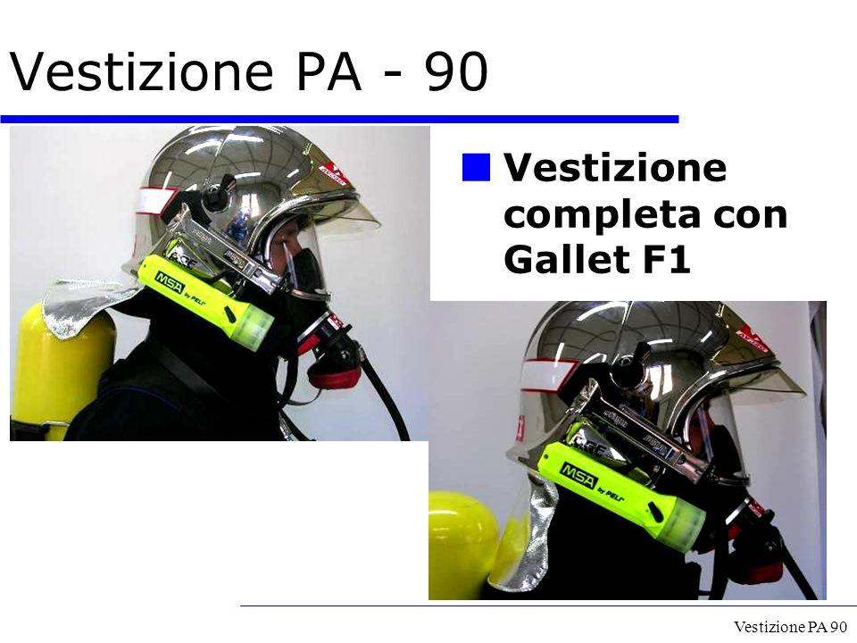 Vestizione PA 90 Vestizione completa con Gallet F1 Vestizione PA - 90