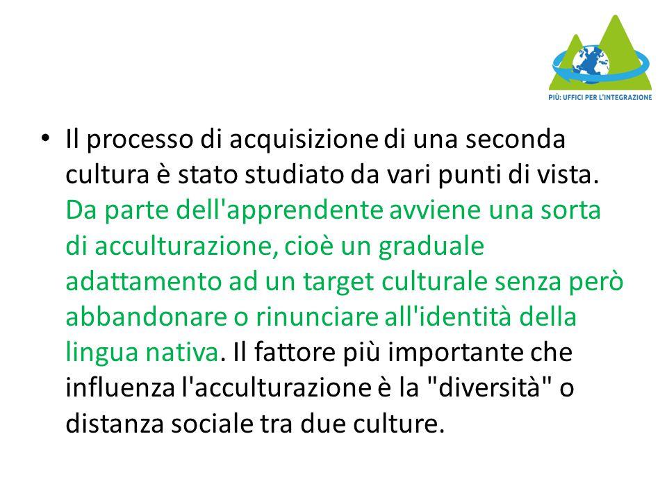 Il processo di acquisizione di una seconda cultura è stato studiato da vari punti di vista.