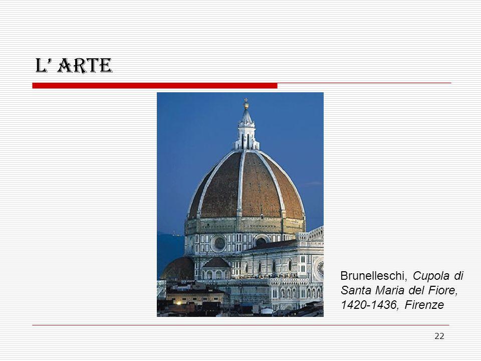 22 L' arte Brunelleschi, Cupola di Santa Maria del Fiore, 1420-1436, Firenze