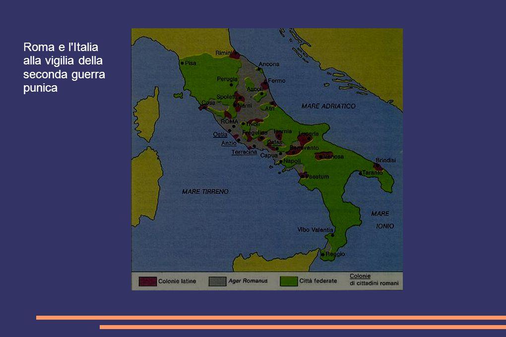 Roma e l'Italia alla vigilia della seconda guerra punica