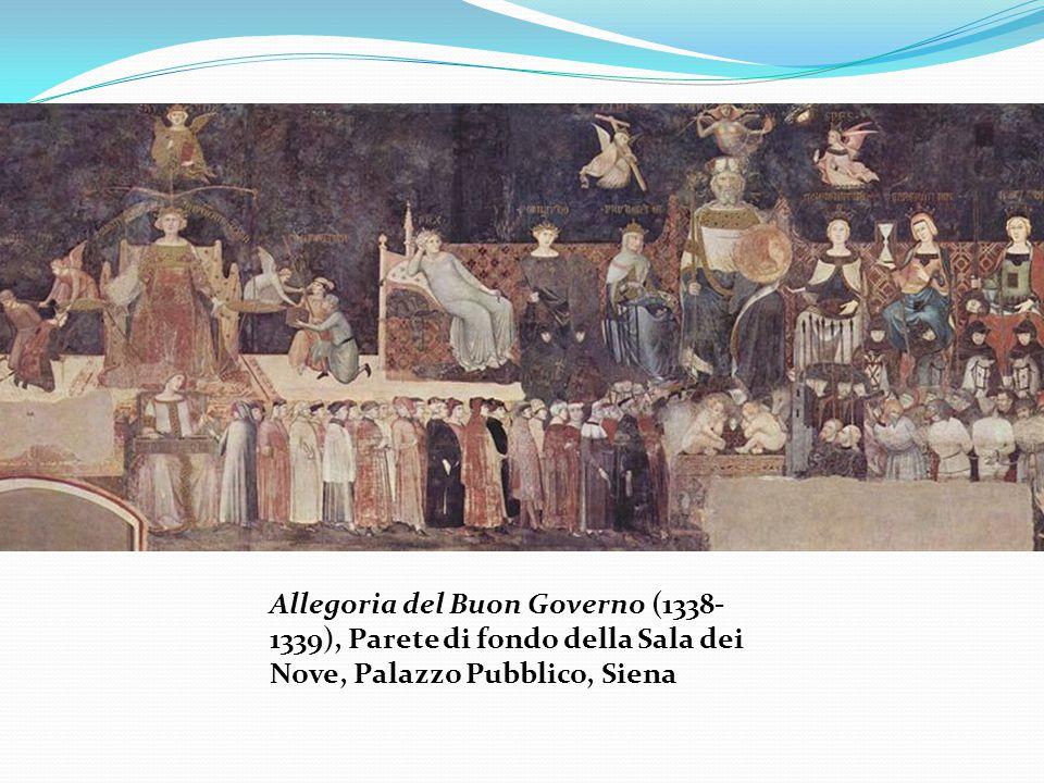 Allegoria del Buon Governo (1338- 1339), Parete di fondo della Sala dei Nove, Palazzo Pubblico, Siena