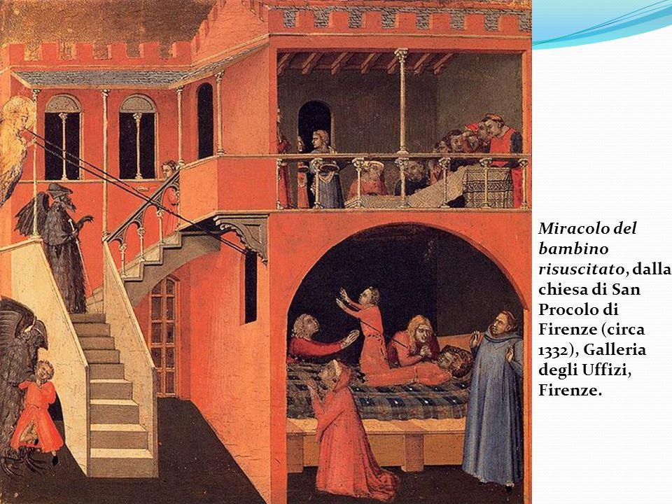 Quindi la prospettiva del Lorenzetti non è corretta: le linee delle mattonelle parallele al quadro (linee trasverse) sono tracciate a distanze decrescenti, ma non nella giusta proporzione Presentazione al Tempio di Ambrogio Lorenzetti.