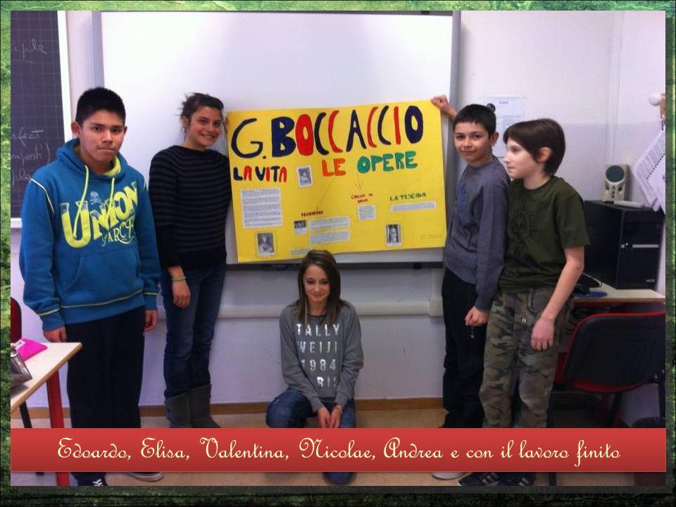 Edoardo, Elisa, Valentina, Nicolae, Andrea e con il lavoro finito