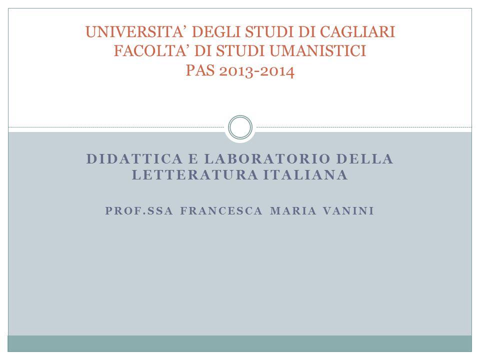 Il Docente di Letteratura Italiana e la domanda di senso: la chance della disciplina.