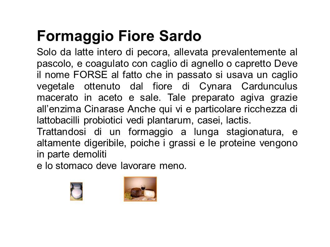 Caprini Sardegna produce il 35% del totale nazionale, altamente digeribile forma coaguli minutissimi, i globuli di grasso sono piccoli e inferiori a 2um.