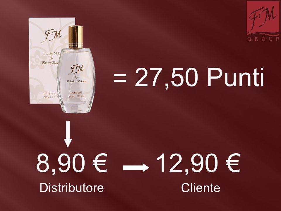 = 27,50 Punti 8,90 €12,90 € Distributore Cliente