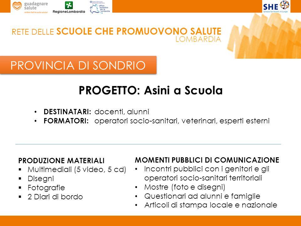 PROVINCIA DI MILANO Scuola capofila provinciale: I.C.S.