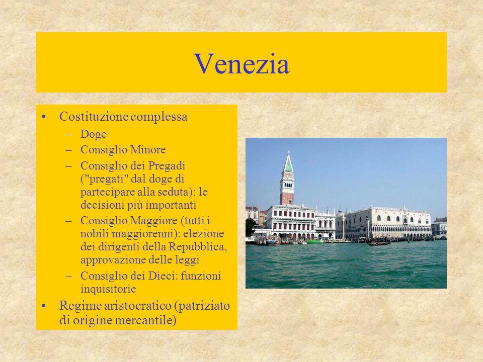 Venezia Invasione longobarda (568)  flusso di rifugiati per la laguna veneta (118 isole) Dominio bizantino  secolo X: autonomia dux  duca  doge Po