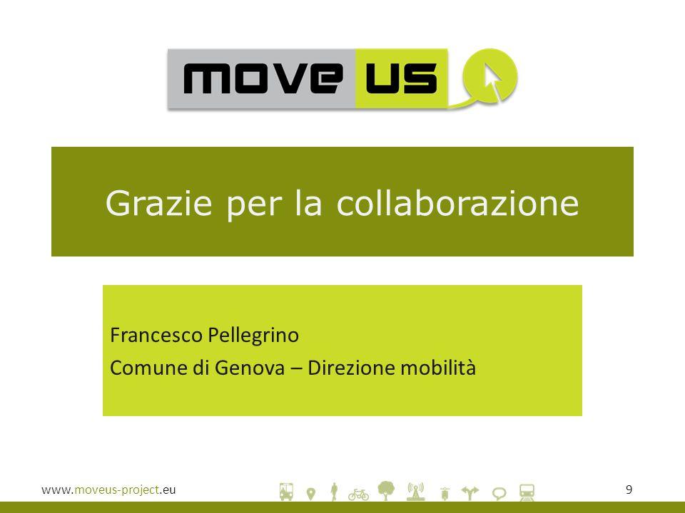www.moveus-project.eu9 Grazie per la collaborazione Francesco Pellegrino Comune di Genova – Direzione mobilità