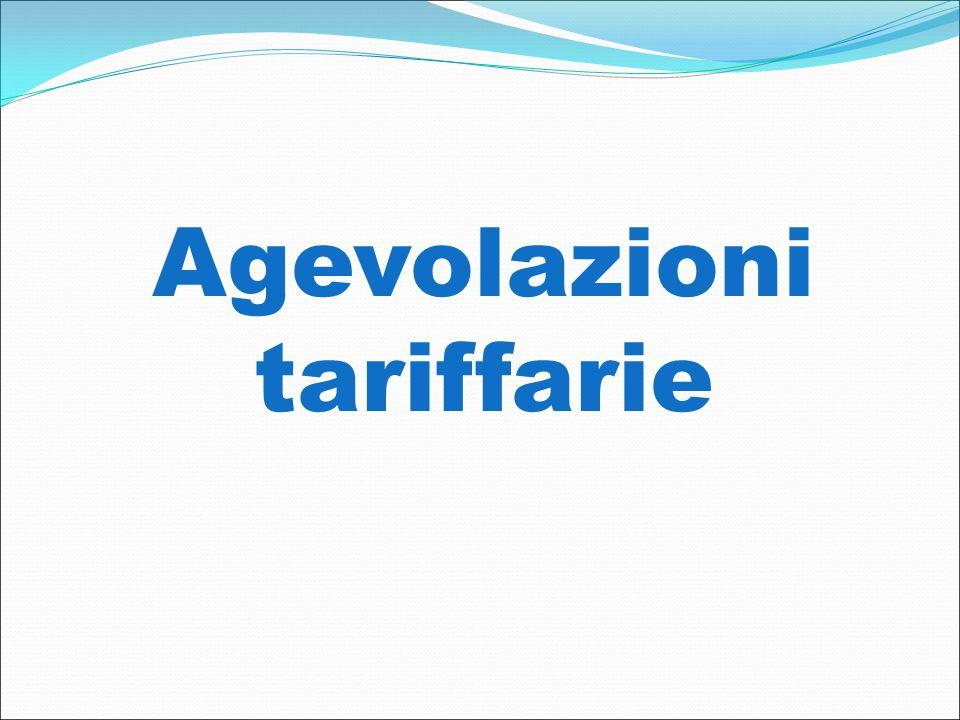 Agevolazioni tariffarie