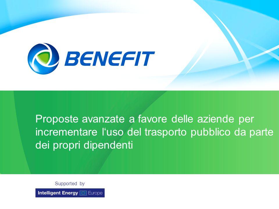 Topic Organisation Location Date Proposte avanzate a favore delle aziende per incrementare l'uso del trasporto pubblico da parte dei propri dipendenti Supported by
