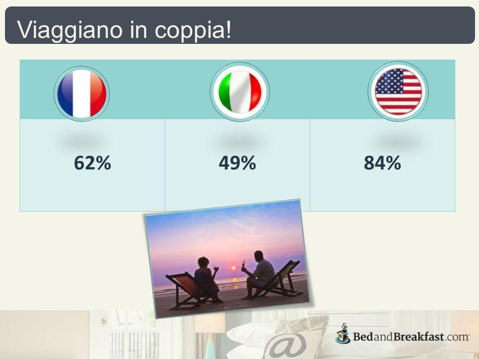 Viaggiano in coppia! 62%49%84%