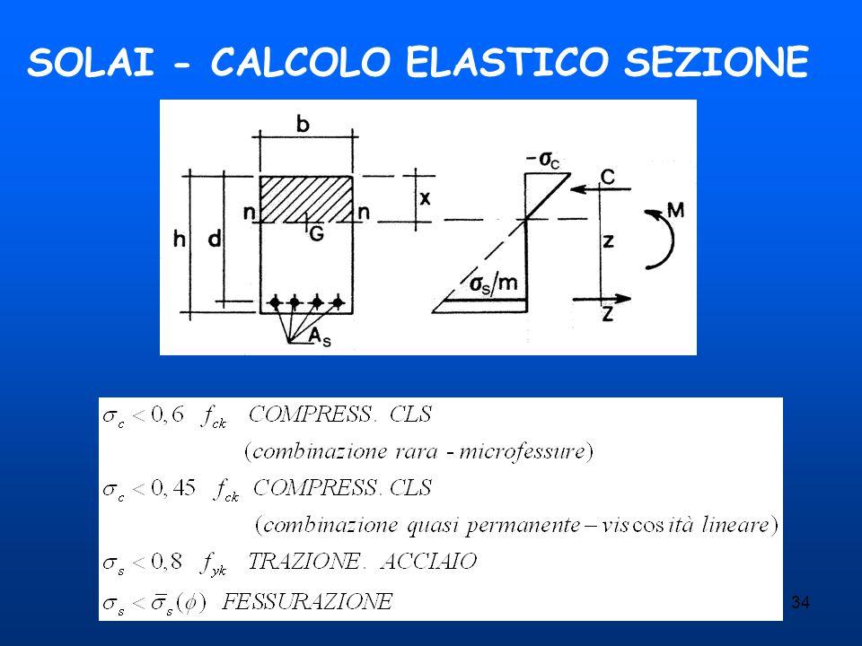 34 SOLAI - CALCOLO ELASTICO SEZIONE