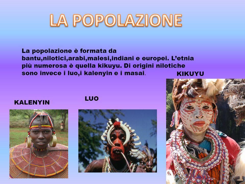 La popolazione è formata da bantu,nilotici,arabi,malesi,indiani e europei.