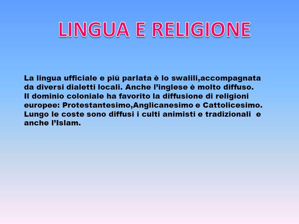 La lingua ufficiale e più parlata è lo swalili,accompagnata da diversi dialetti locali.