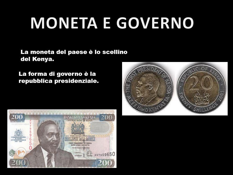 La moneta del paese è lo scellino del Kenya. La forma di governo è la repubblica presidenziale.