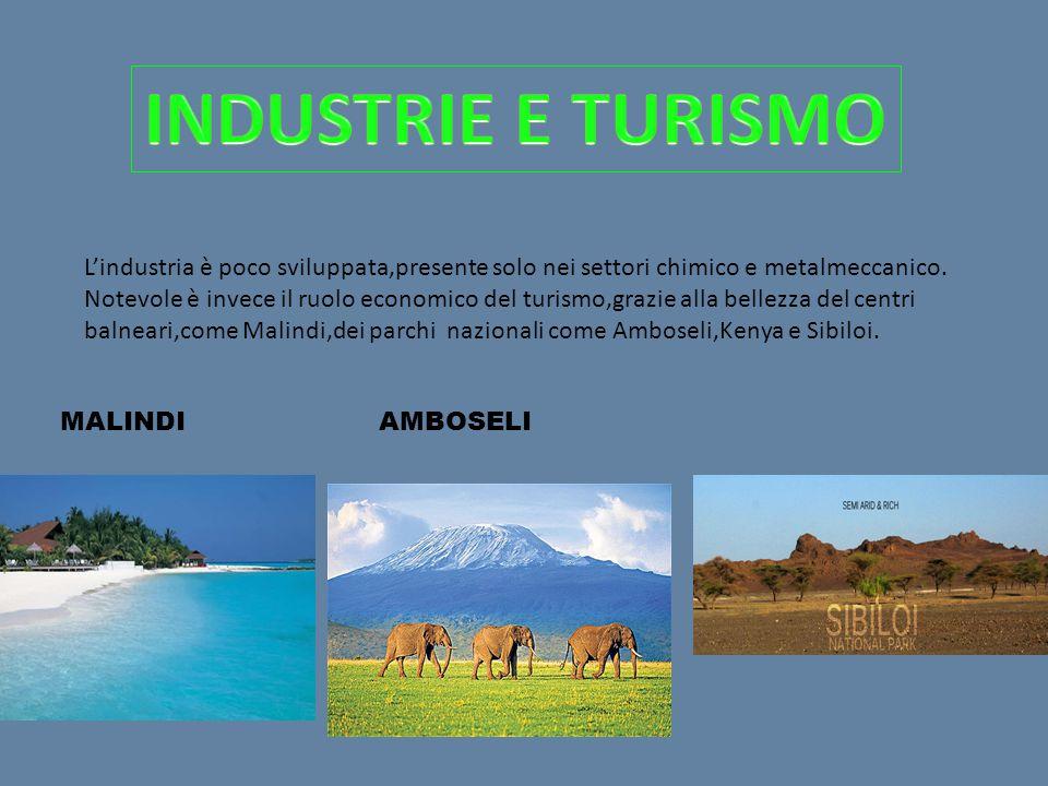 L'industria è poco sviluppata,presente solo nei settori chimico e metalmeccanico.