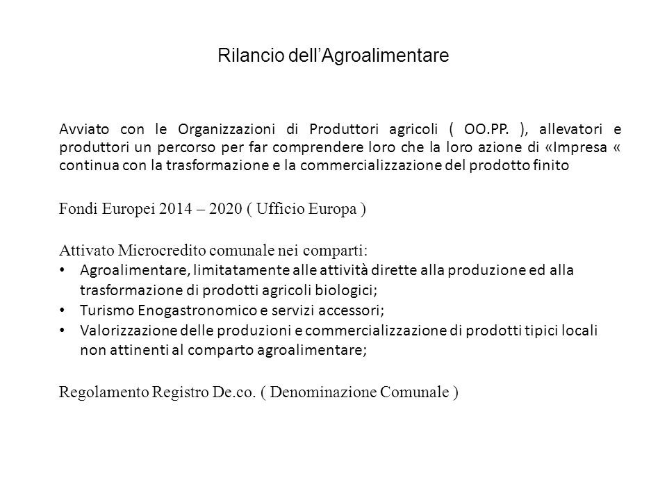 Sfida #1 Internazionalizzazione delle imprese agricole, aumento della propensione all export dei propri prodotti
