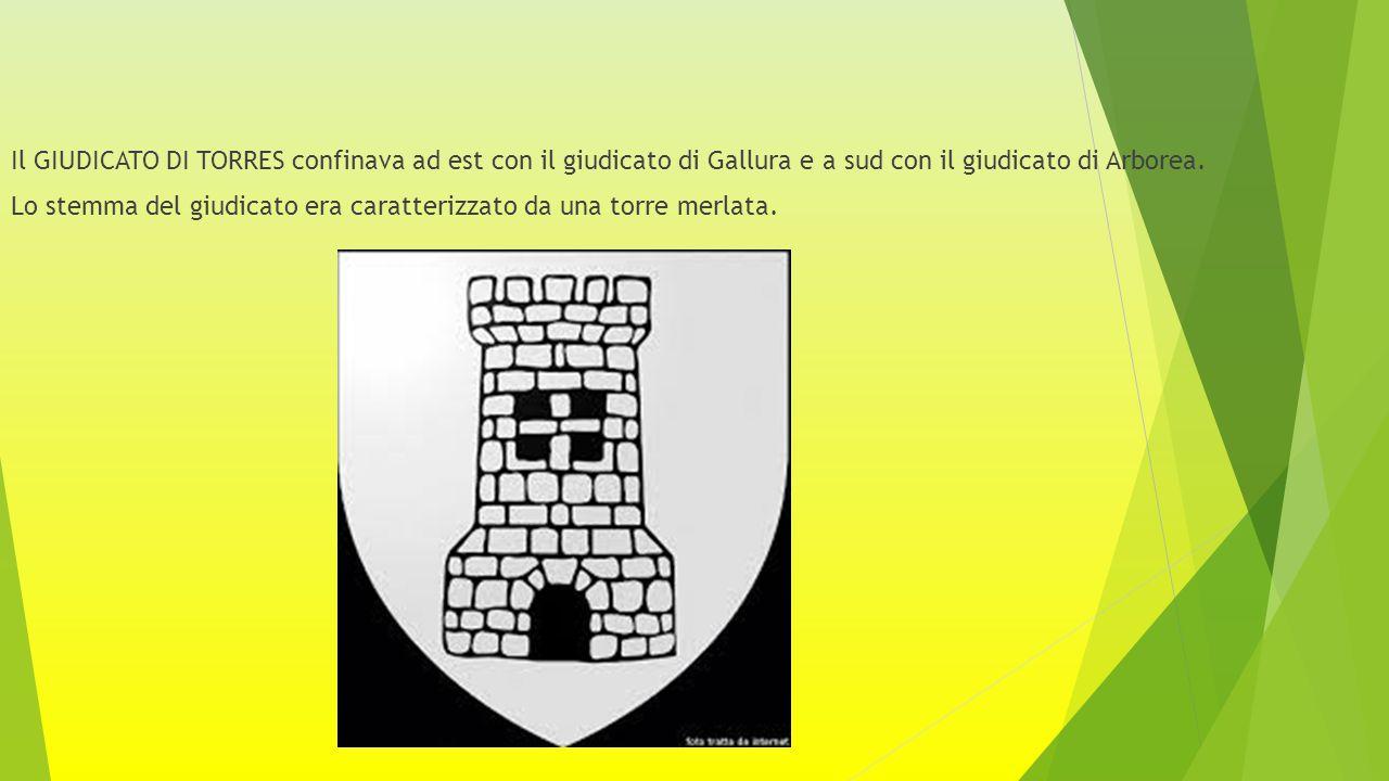 Il GIUDICATO DI TORRES confinava ad est con il giudicato di Gallura e a sud con il giudicato di Arborea.