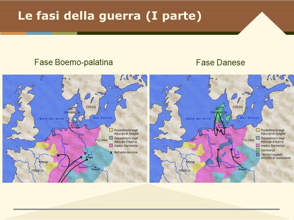 Le fasi della guerra (I parte) Fase Boemo-palatina Fase Danese