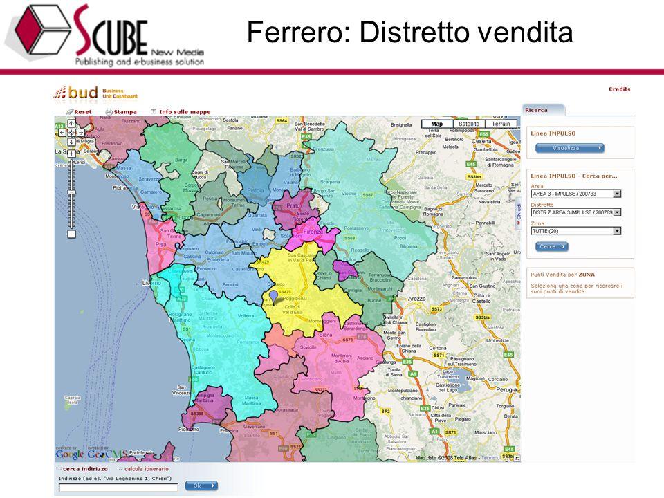 TURISMEDIA (www.turismedia.it) - EUROTEAM (www.euroteam.it) - Progettazione Marketing Tecnologico 36 Ferrero: Distretto vendita