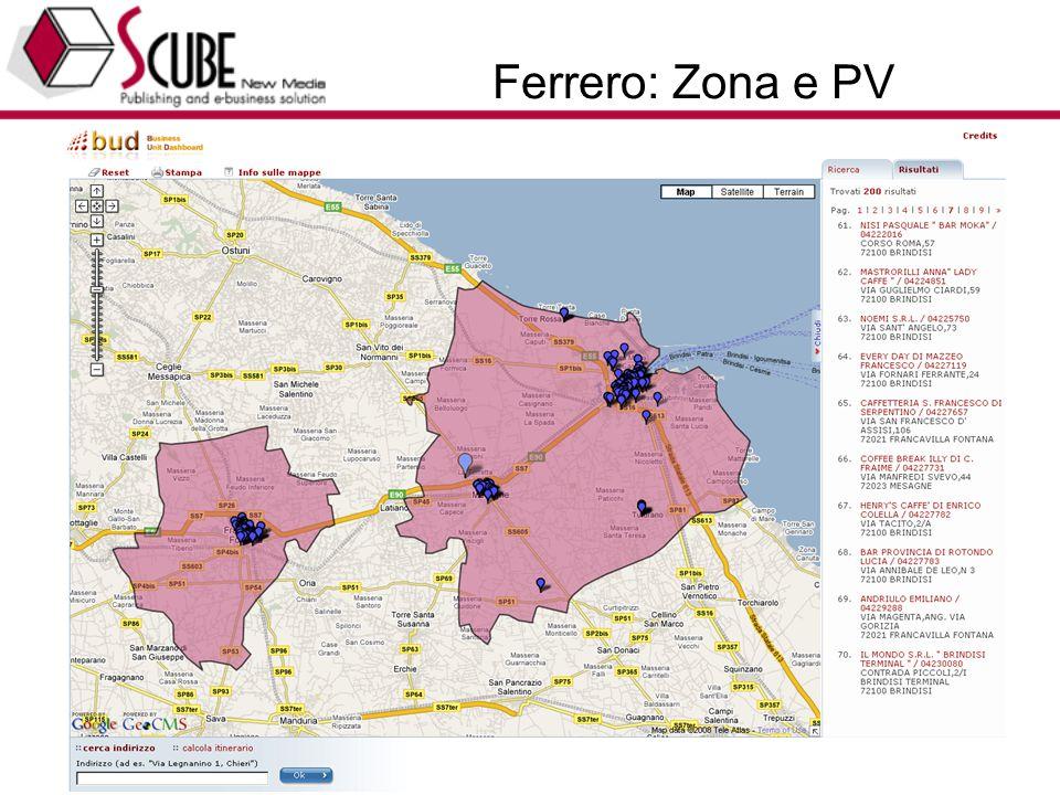 TURISMEDIA (www.turismedia.it) - EUROTEAM (www.euroteam.it) - Progettazione Marketing Tecnologico 37 Ferrero: Zona e PV