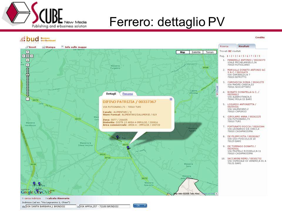 TURISMEDIA (www.turismedia.it) - EUROTEAM (www.euroteam.it) - Progettazione Marketing Tecnologico 38 Ferrero: dettaglio PV