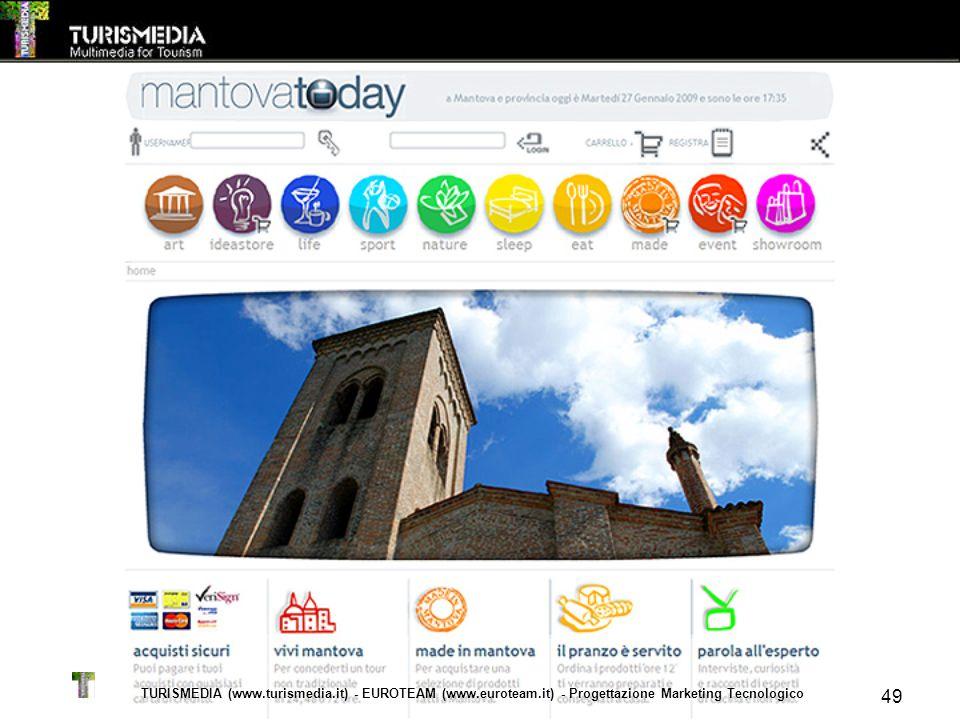 TURISMEDIA (www.turismedia.it) - EUROTEAM (www.euroteam.it) - Progettazione Marketing Tecnologico 49