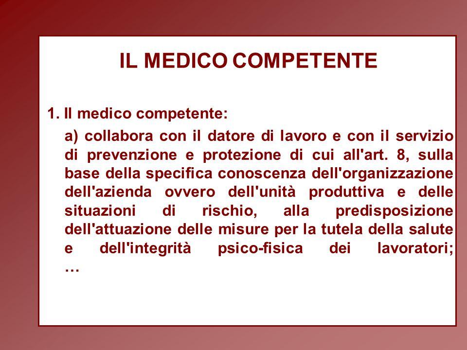 IL MEDICO COMPETENTE 1.