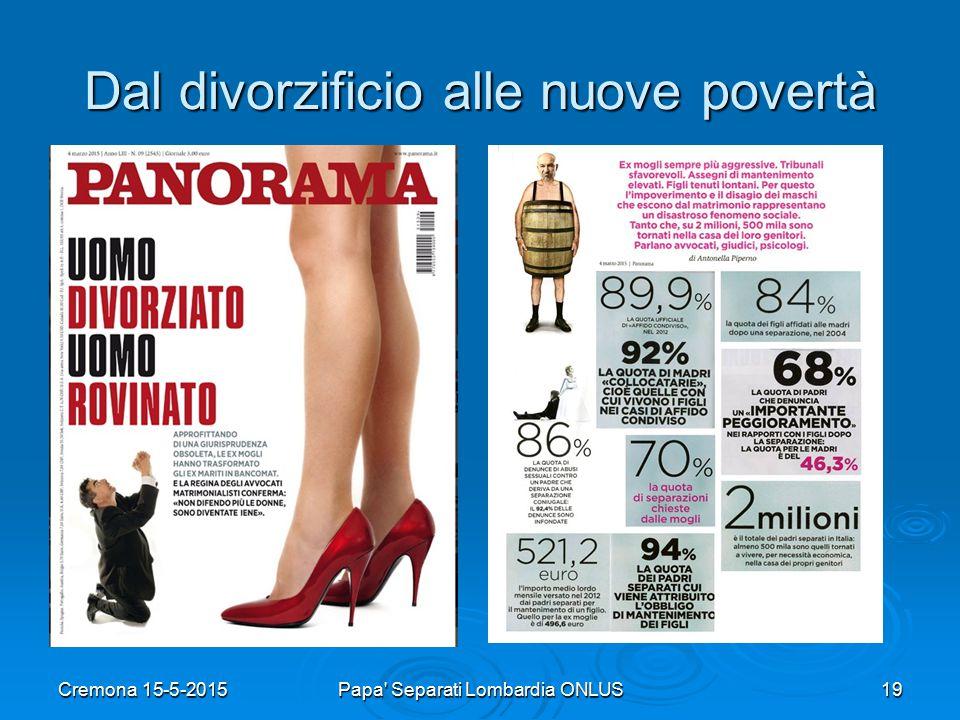 Dal divorzificio alle nuove povertà Cremona 15-5-2015Papa Separati Lombardia ONLUS19