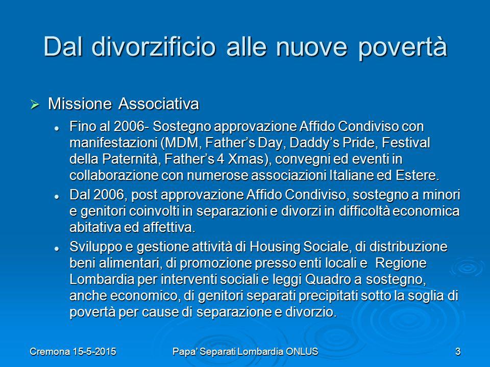 Dal divorzificio alle nuove povertà  Affido Condiviso, una riforma inseguita per vent'anni e totalmente disattesa.
