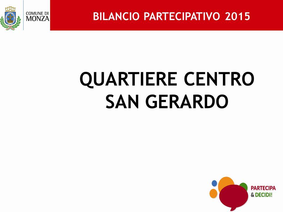 BILANCIO PARTECIPATIVO 2015 QUARTIERE CENTRO SAN GERARDO