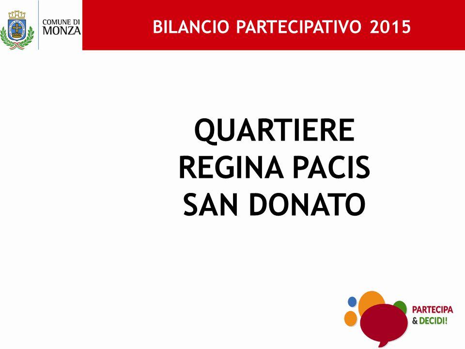 BILANCIO PARTECIPATIVO 2015 QUARTIERE REGINA PACIS SAN DONATO