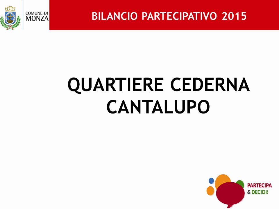 BILANCIO PARTECIPATIVO 2015 QUARTIERE CEDERNA CANTALUPO