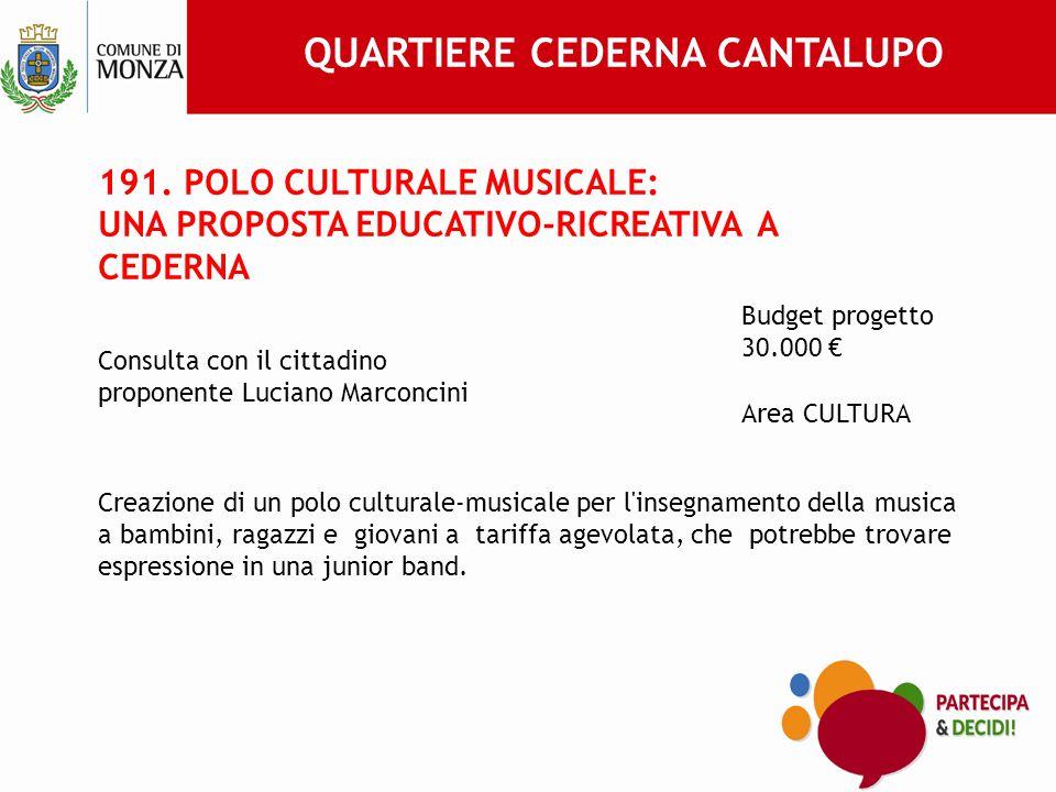209 PROGETTO ATTIVITA' MUSICALI – SCUOLA SECONDARIA DI PRIMO GRADO A.