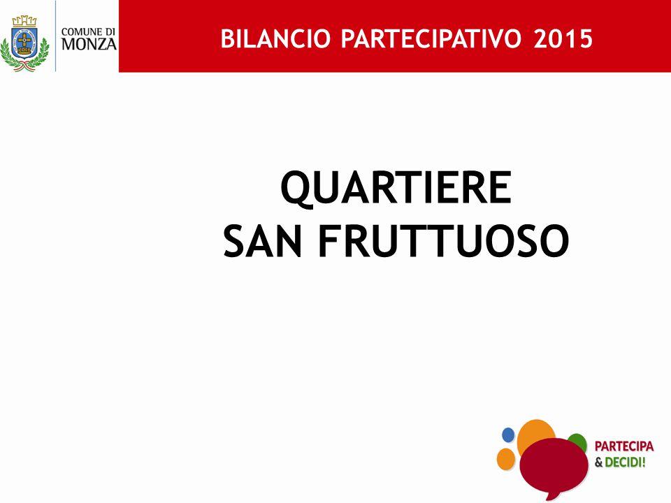 BILANCIO PARTECIPATIVO 2015 QUARTIERE SAN FRUTTUOSO