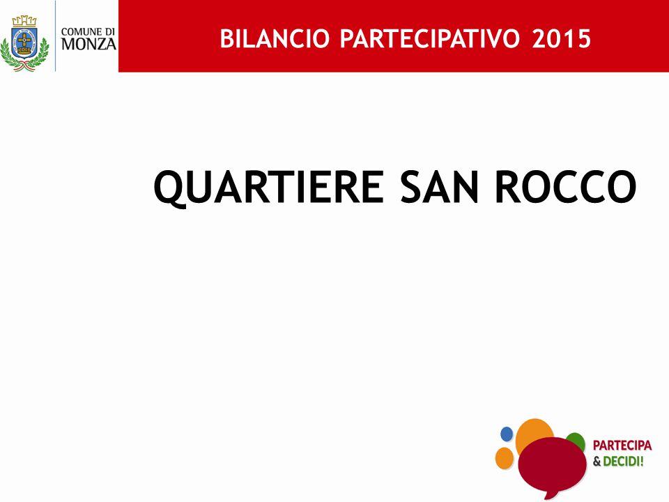 BILANCIO PARTECIPATIVO 2015 QUARTIERE SAN ROCCO