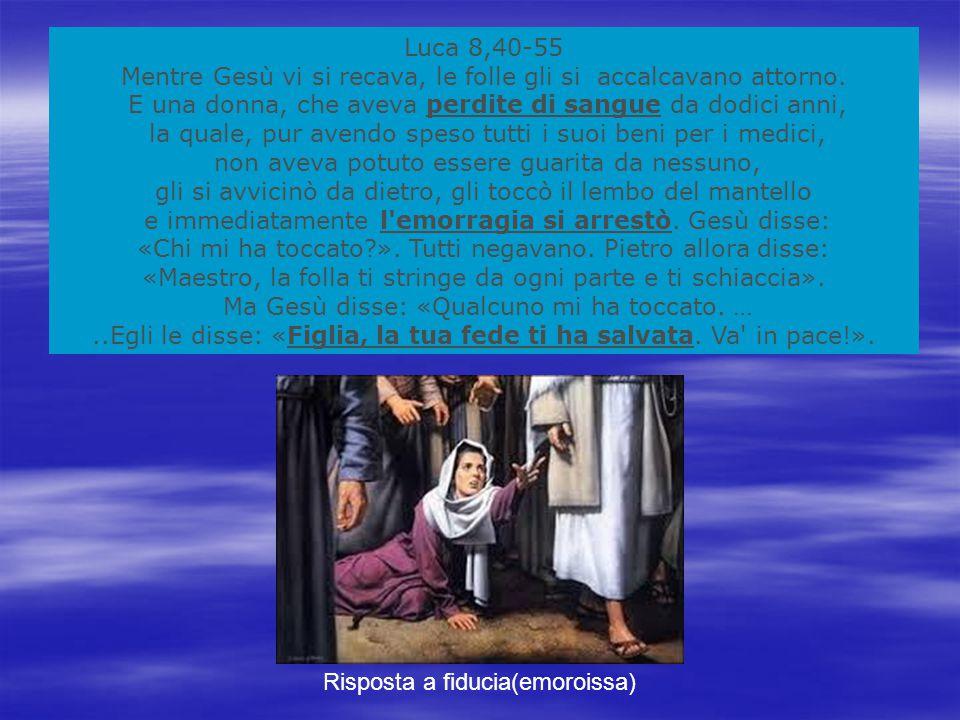 Luca 8,40-55 Mentre Gesù vi si recava, le folle gli si accalcavano attorno.