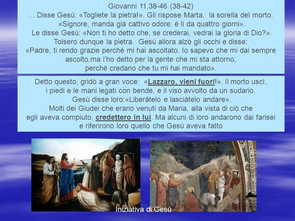 Giovanni 11,38-46 (38-42)...Disse Gesù: «Togliete la pietra!».