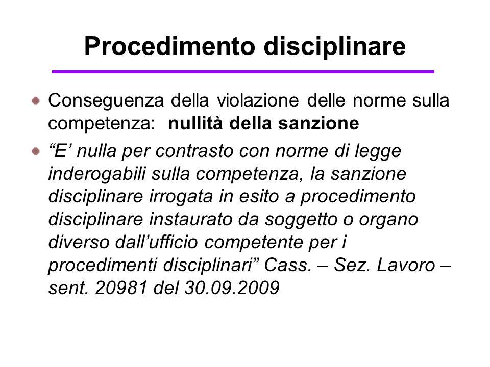 Procedimento disciplinare Competenze e termini L'U.C.P.D.