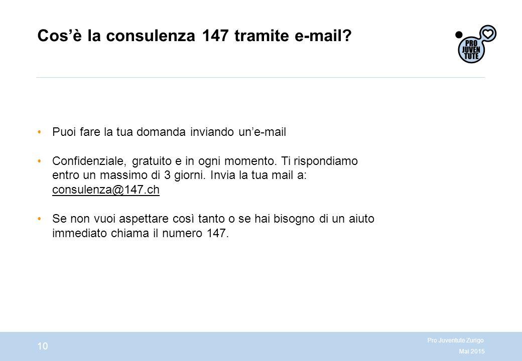 Cos'è la consulenza 147 tramite e-mail.