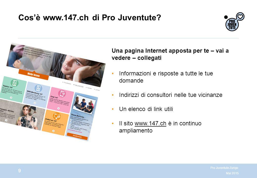 Cos'è www.147.ch di Pro Juventute.