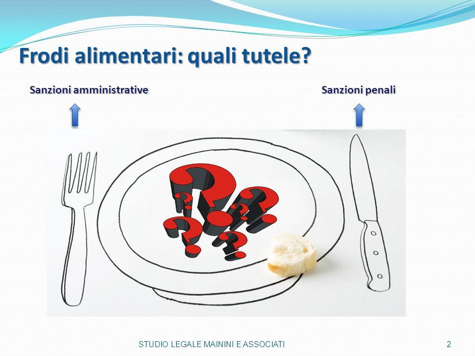 Frodi alimentari: quali tutele? Frodi alimentari: quali tutele? Sanzioni amministrative Sanzioni amministrative Sanzioni penali Sanzioni penali 2STUDI