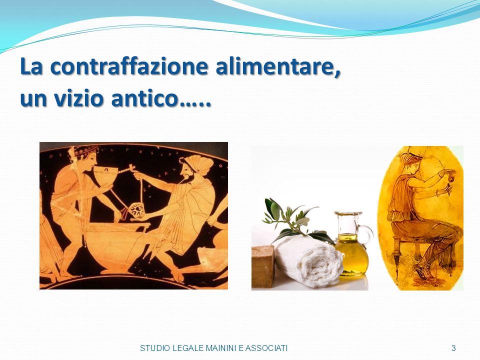 La contraffazione alimentare, un vizio antico….. 3STUDIO LEGALE MAININI E ASSOCIATI